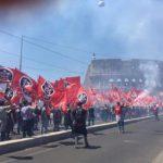 Résistance Helvétique présent à la manifestation romaine de Casapound.