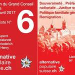 Votez pour nos membres aux élections du Grand Conseil Vaudois ! (30.04.2017)