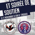 Soirée de soutien à Cicero et au Bastion Social (17.11.2018)