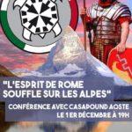 Conférence avec Résistance Helvétique et Casapound Aoste (01.12.2018)