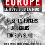 Conférence «Europe, le réveil ou la mort»