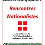 Conférence avec le Parti Nationaliste Suisse