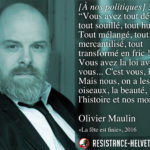 Citation d'Olivier Maulin