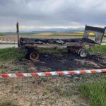 votations du 13 juin : bâches de campagne incendiées